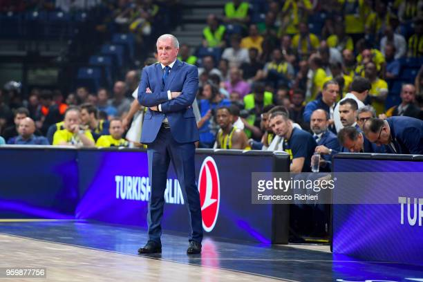 Zeljko Obradovic Head Coach of Fenerbahce Dogus Istanbul during the 2018 Turkish Airlines EuroLeague F4 Semifinal B game between Fenerbahce Dogus...