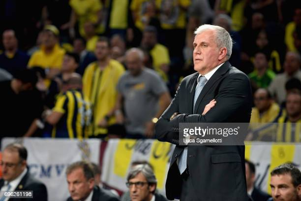 Zeljko Obradovic Head Coach of Fenerbahce Istanbul during the Championship Game 2017 Turkish Airlines EuroLeague Final Four between Fenerbahce...