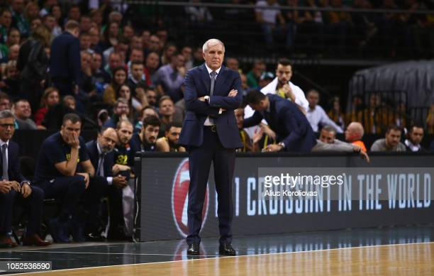 Zeljko Obradovic Head Coach of Fenerbahce Istanbul in action during the 2018/2019 Turkish Airlines EuroLeague Regular Season Round 3 game between...