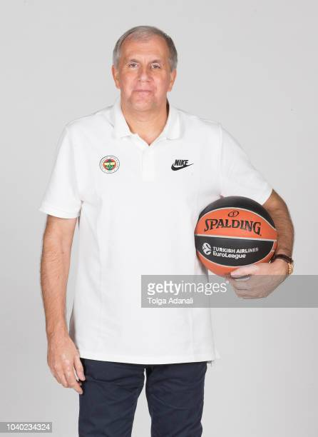 Zeljko Obradovic Head Coach of Fenerbahce Istanbul poses during the Fenerbahce Istanbul 2018/2019 Turkish Airlines EuroLeague Media Day at Ulker...
