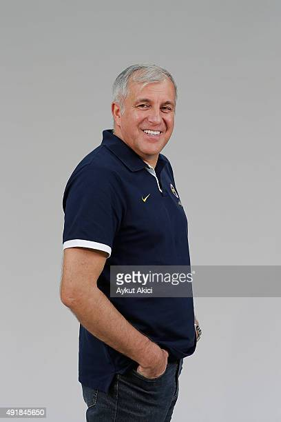 Zeljko Obradovic Head Coach of Fenerbahce Istanbul poses during the 2015/2016 Turkish Airlines Euroleague Basketball Media Day at Ulker Sports Arena...