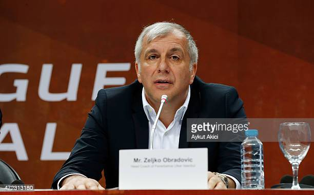 Zeljko Obradovic Head Coach of Fenerbahce Ulker Istanbul during the Euroleague Basketball 15 Years Celebration Event Press Conference at Ulker Sports...