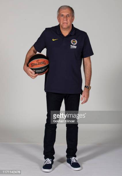 Zeljko Obradovic Head Coach poses during the Fenerbahce Beko Istanbul 2019/2020 Turkish Airlines EuroLeague Media Day at Ulker Sports Arena on...