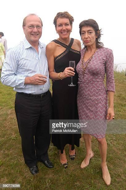 Zen Chernyk Monica Castiglioni and Loretta Podhorodeci attend Junko Yoshioka Presents Her Evening Wear Collection at Peter and Nejma Beard Residence...