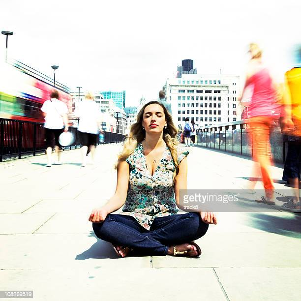 Zen contemplation on the busy streets of London