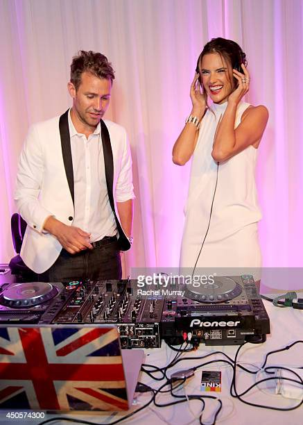 Zen Freeman and model Alessandra Ambrosio during PATHWAY TO THE CURE A Fundraiser Benefiting Susan G Komen presented by Pathway Genomics Relativity...
