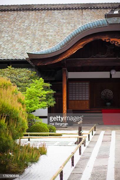 Zen Garden and Temple in Kyoto