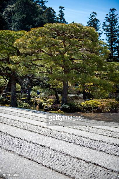 Zen garden at Ginkakuji a villa named Silver Pavilion constructed in 1482 for Shogun Ashikaga Yoshimasa and converted into a Zen Buddhist temple...