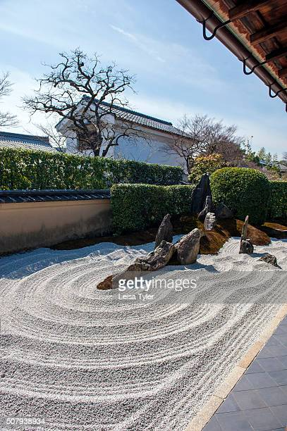 Zen garden at the Zuihoin Zen Buddhist temple a subtemple of the Daitokuji temple complex in Kyoto