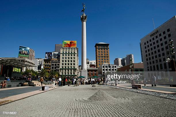 A zen garden created by Ivan Shvartz is seen in the middle of Union Square September 25 2007 in San Francisco California Shvartz created the thirty...