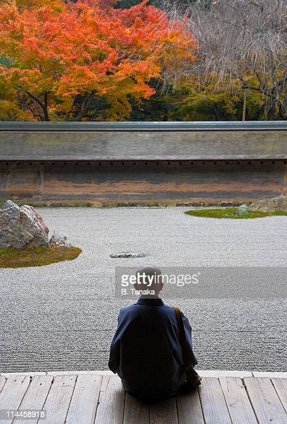 Zen Garden Meditation at Kyoto's Ryoanji Temple