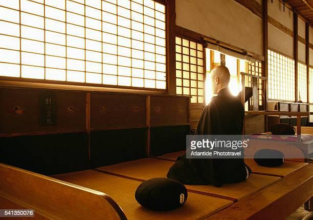Zen Meditation in Temple near Uji