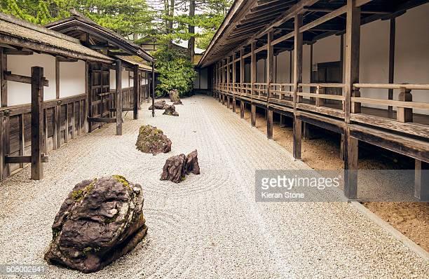 Zen rock garden in a Buddhist monastery.