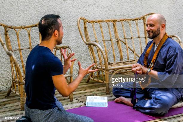 Zen sesshin in Paris France Dokusan
