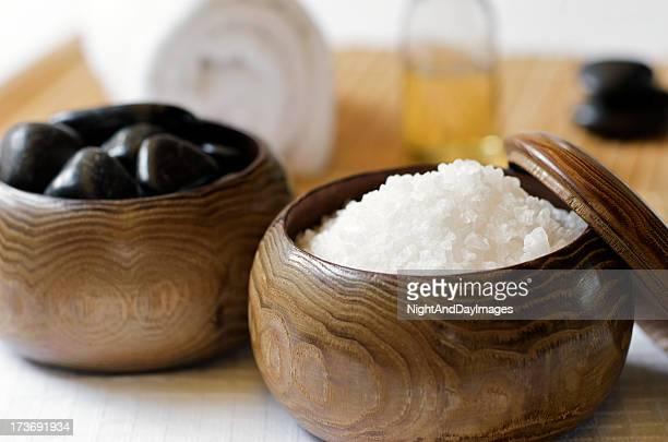 「禅スパ」のスキンケアスの塩ストーン付き