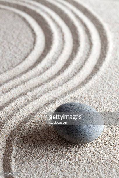 zen stone garden - buddhism stock pictures, royalty-free photos & images