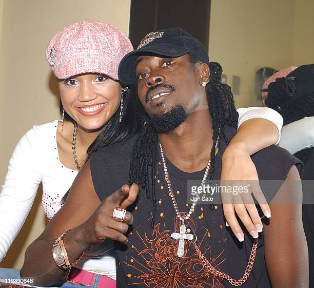 Zena and Beenie Man during Beenie Man Performs Live in Concert Backstage December 10 2004 at Duo Music Exchange in Tokyo Japan