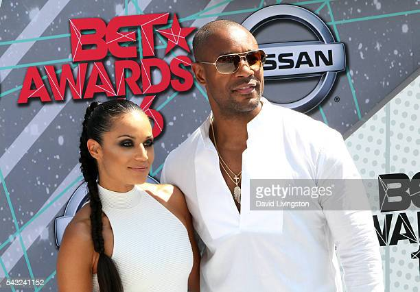 Zena Foster and recording artist Tank Foster attend the 2016 BET Awards at Microsoft Theater on June 26 2016 in Los Angeles California