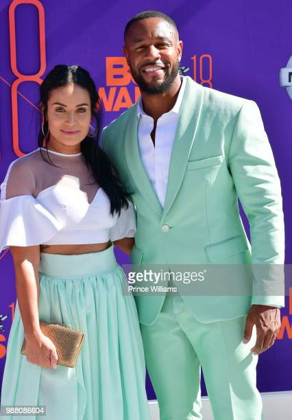 Zena Foster and Tank arrive to the 2018 BET Awards held at Microsoft Theater on June 24 2018 in Los Angeles California