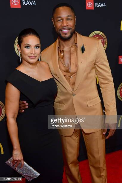 Zena Foster and Tank attend 2019 Trumpet awards at Cobb Energy Performing Arts Center on January 19 2019 in Atlanta Georgia