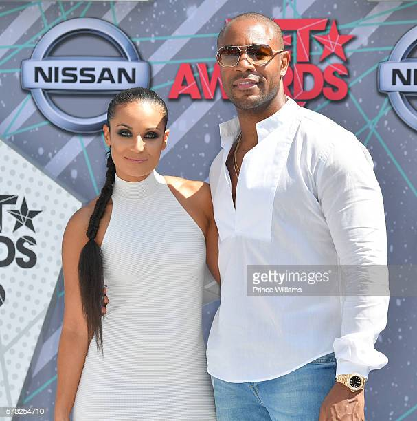 Zena Foster and Tank attend the 2016 BET awards at Microsoft Theater on June 26 2016 in Los Angeles California