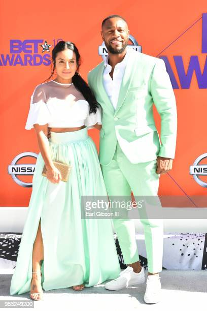 Zena Foster and Tank attend the 2018 BET Awards at Microsoft Theater on June 24 2018 in Los Angeles California