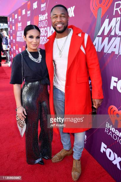 Zena Foster and Tank attend the 2019 iHeartRadio Music Awards which broadcasted live on FOX at Microsoft Theater on March 14 2019 in Los Angeles...