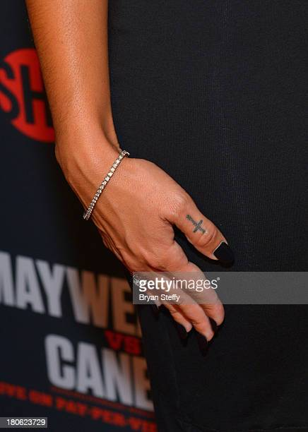 Zena Foster arrives at the MGM Grand Garden Arena for the Floyd Mayweather Jr vs Canelo Alvarez boxing match on September 14 2013 in Las Vegas Nevada