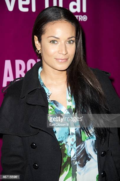 Zena Foster attends the opening night of 'Above The Fold' at Pasadena Playhouse on February 5 2014 in Pasadena California