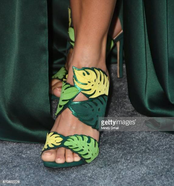 Zena Foster shoe detail attends the 2017 Soul Train Music Awards at the Orleans Arena on November 5 2017 in Las Vegas Nevada
