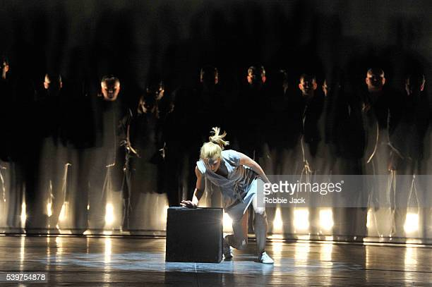 Zenaida Yanowsky in George Cespedes's Finding Himself Ghost of The Memory at the London Coliseum