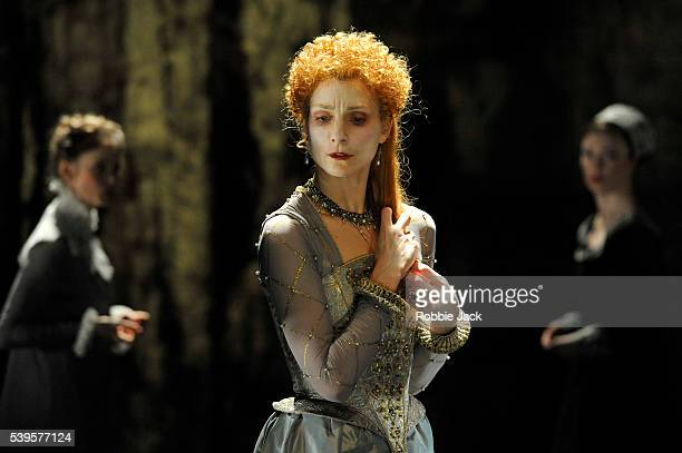 Zenaida Yanowsky in the Royal Ballet's production of Will Tuckett's Elizabeth at the Linbury Studio Theatre Royal Opera House Covent Garden in London