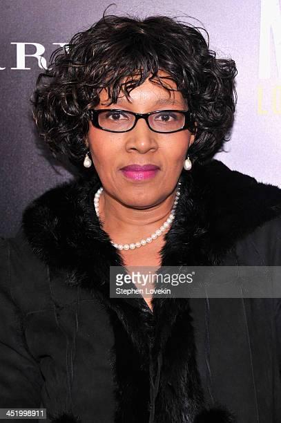 "Zenani Mandela attends ""Mandela: Long Walk To Freedom"" screening hosted by U2, Anna Wintour, Bob and Harvey Weinstein with Burberry at Ziegfeld..."