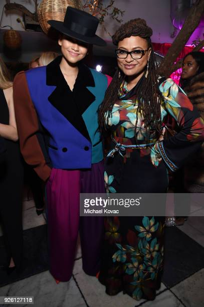 Zendaya and Ava DuVernay celebrate with Belvedere Vodka at Vanity Fair and Lancome Paris Toast Women in Hollywood hosted by Radhika Jones and Ava...