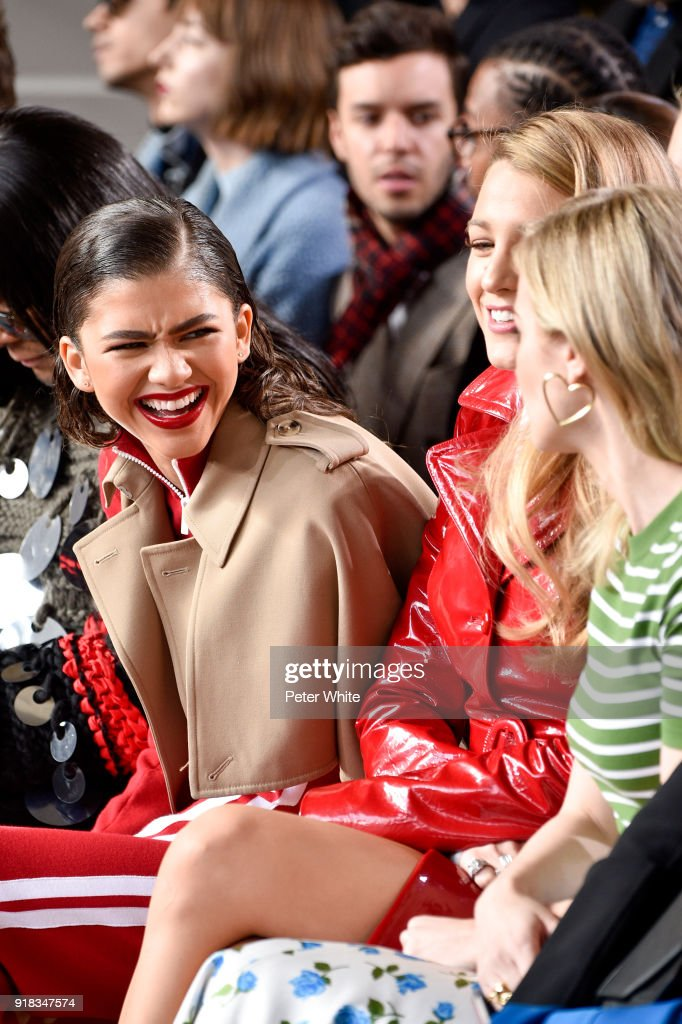 Zendaya and Blake Lively attend the Michael Kors Collection Fall 2018 Runway Show at Vivian Beaumont Theatre at Lincoln Center on February 14, 2018 in New York City.