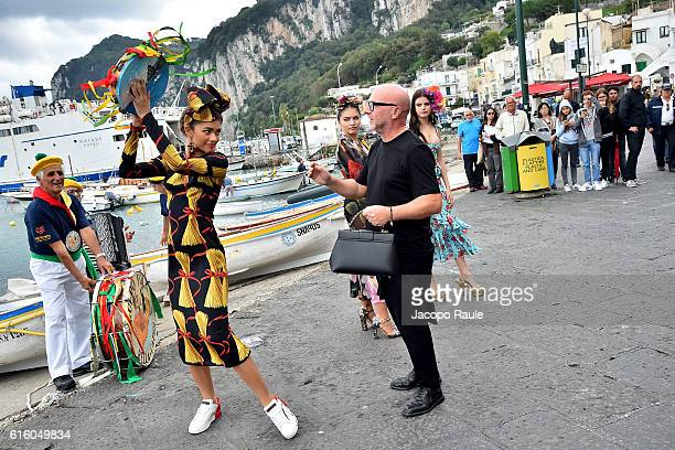 Zendaya and Domenico Dolce are seen on the set ofthe DolceGabbana Summer 2017 #DGMillennials Advertising Campaign on October 21 2016 in Capri Italy
