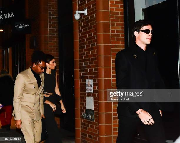 Zendaya and Jacob Elordi are seen in midtown on January 30 2020 in New York City