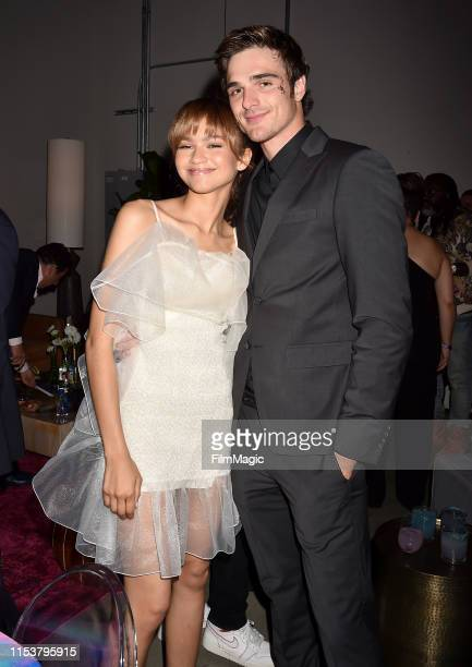 Zendaya and Jacob Elordi attend HBO's Euphoria premiere at the Arclight Pacific Theatres' Cinerama Dome on June 04 2019 in Los Angeles California