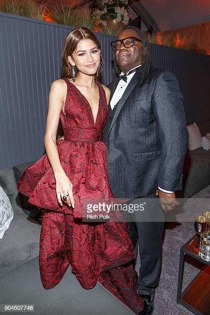 Zendaya and Kazembe Ajamu Coleman attend the Weinstein Company And Netflix Golden Globe Party Presented With DeLeon Tequila Laura Mercier Lindt...