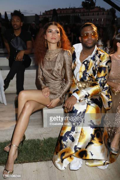 Zendaya and Lauroach attend the Fendi Couture Fall Winter 2019/2020 Show on July 04, 2019 in Rome, Italy.