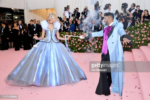 Zendaya and Law Roach attend The 2019 Met Gala Celebrating Camp: Notes on Fashion at Metropolitan Museum of Art on May 06, 2019 in New York City.