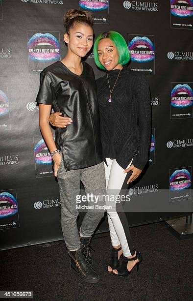 Zendaya and Lil' Mama attend Flips Audio Headphones Sponsors the Official Artist Gift Lounge Cumulus Radio Row At the American Music Awards Day 2 on...