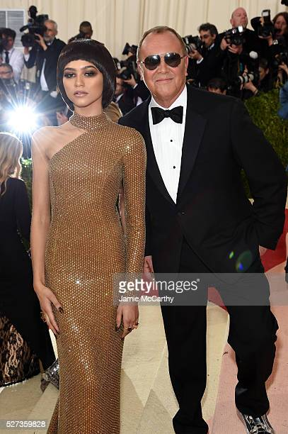 Zendaya and Michael Kors attend the 'Manus x Machina Fashion In An Age Of Technology' Costume Institute Gala at Metropolitan Museum of Art on May 2...