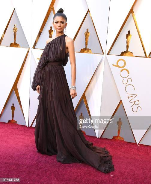 Zendaya arrives at the 90th Annual Academy Awards at Hollywood Highland Center on March 4 2018 in Hollywood California