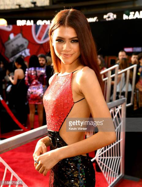 Zendaya arrives at the premiere of Sony Pictures' SpiderMan Far From Home at TCL Chinese Theatre on June 26 2019 in Hollywood California