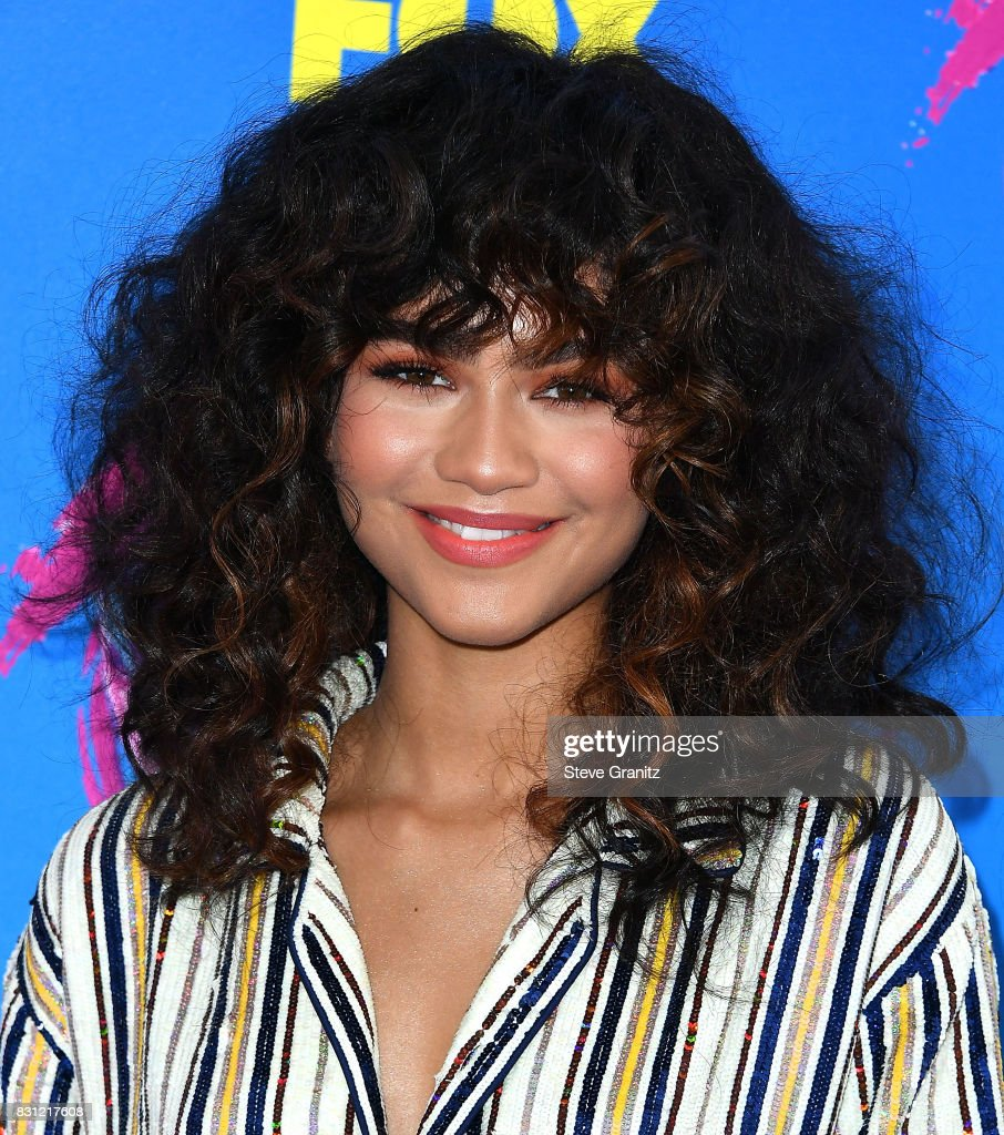 Zendaya arrives at the Teen Choice Awards 2017 at Galen Center on August 13, 2017 in Los Angeles, California.