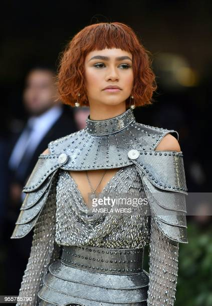 Zendaya arrives for the 2018 Met Gala on May 7 at the Metropolitan Museum of Art in New York The Gala raises money for the Metropolitan Museum of...