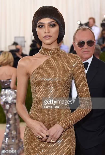Zendaya arrives for the 'Manus x Machina Fashion In An Age Of Technology' Costume Institute Gala at Metropolitan Museum of Art on May 2 2016 in New...
