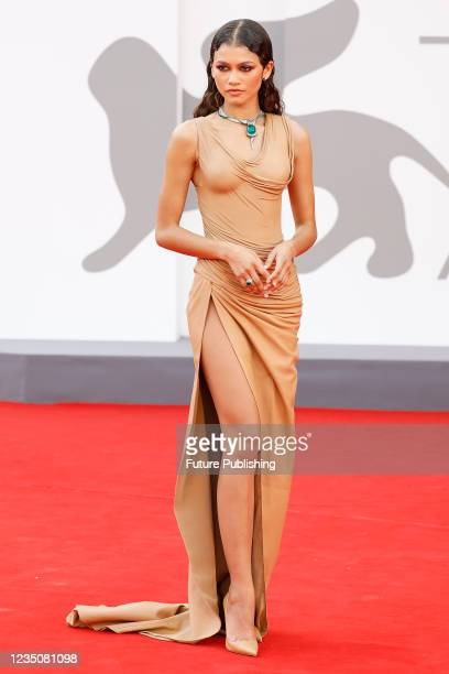 Zendaya arrives on the red carpet for 'Dune' during the 78th Venice International Film Festival in Venice, Italy.