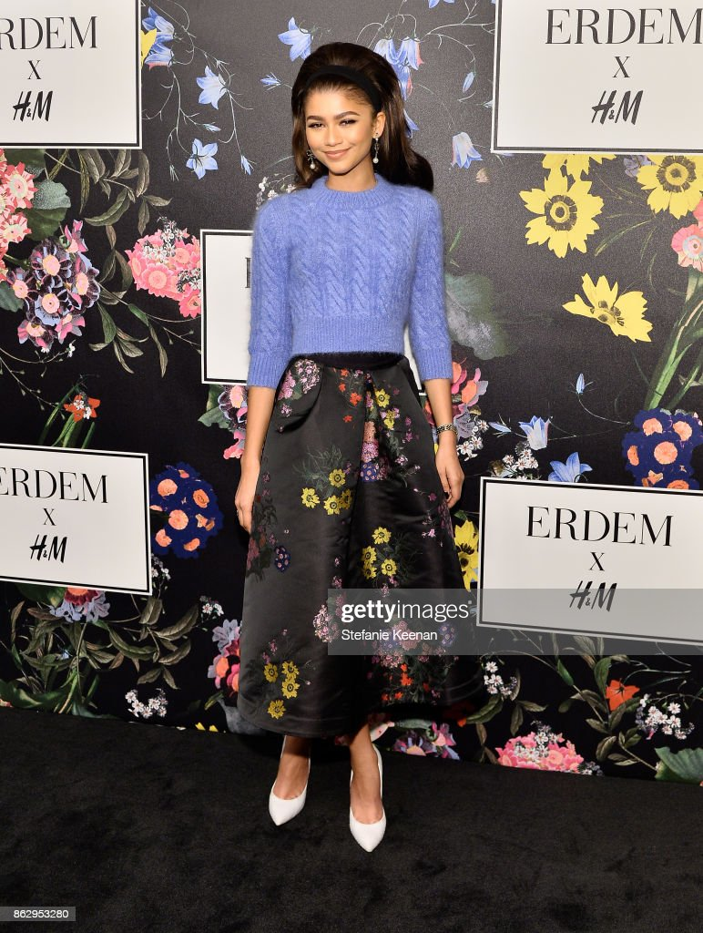 Zendaya at H&M x ERDEM Runway Show & Party at The Ebell Club of Los Angeles on October 18, 2017 in Los Angeles, California.
